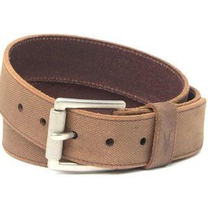 "Allsaints textured leather belt 1 1/2""W US42 NWT"